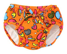 Load image into Gallery viewer, Baby Swim Trunks 0-3 Infants Lovely Swimsuit Leakproof Swim Shorts, Orange Heart - thegsnd