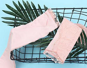 Womens Long Lace Floral Half Finger Gloves Summer Uv Sunscreen Arm Sleeves, Pink - thegsnd