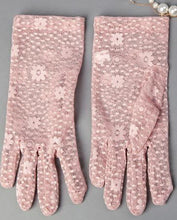Load image into Gallery viewer, Sunscreen Driving Gloves Summer Anti-uv Women's Flower Pattern Lace Gloves, Pink - thegsnd