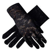 Load image into Gallery viewer, Sunscreen Driving Gloves Summer Anti-uv Womens Flower Pattern Lace Gloves, Black - thegsnd