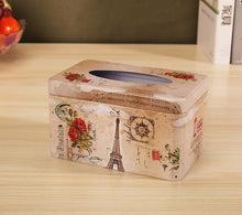 Load image into Gallery viewer, European Creative Living Room Iron Tissue Boxes, Flowers And Tower - thegsnd