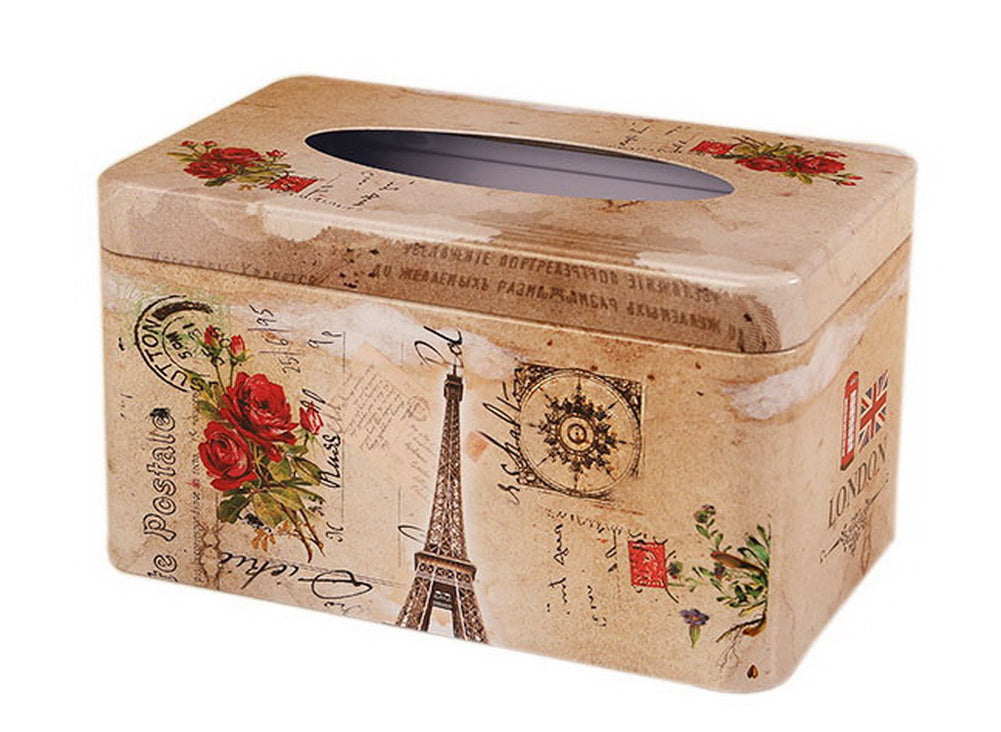 European Creative Living Room Iron Tissue Boxes, Flowers And Tower - thegsnd