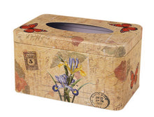 Load image into Gallery viewer, European Creative Living Room Iron Tissue Boxes, Flowers And Butterflies - thegsnd