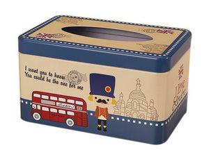 European Creative Living Room Iron Tissue Boxes, Cartoon Traffic Police - thegsnd