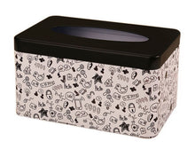 Load image into Gallery viewer, European Creative Living Room Iron Tissue Boxes, Black And Graffiti - thegsnd