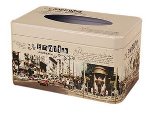 European Creative Living Room Iron Tissue Boxes, Bustling Street Area - thegsnd