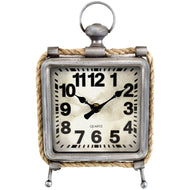 Westclox 91085 Metal And Rope Table Clock - thegsnd