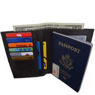 Afonie Rfid Blocking Leather Bifold Wallet-passport Holder - thegsnd