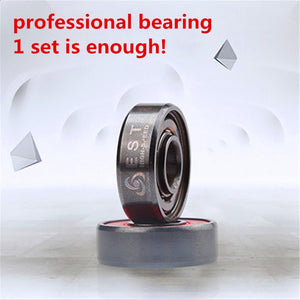 ABEC11 ILQ-11 Professional High Speed Inline Roller Skates Bearing 608 608RS PRO Skating Bearing Chrome Better ABEC-9 ILQ-9 EST - thegsnd