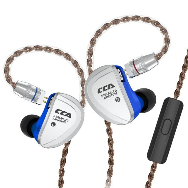 AK CCA C16 8BA Driver Units in Ear Earphone Balanced Armature Earphone Headset Earbud Headphone With Detachable Cable C10/A10 - thegsnd