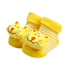 Load image into Gallery viewer, ARLONEET 2018  Cartoon Newborn Baby Girls Boys Anti-Slip Cotton Socks Slipper  9cm warm fashion and Shoes Boots - thegsnd