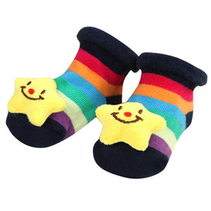 ARLONEET 2018  Cartoon Newborn Baby Girls Boys Anti-Slip Cotton Socks Slipper  9cm warm fashion and Shoes Boots - thegsnd