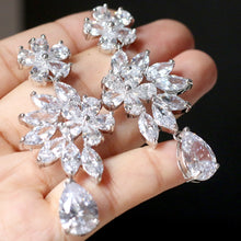 Load image into Gallery viewer, ASNORA Fashion Shiny Zircon Earrings for Women Bridal Earring Jewelry Wedding Accessories Earrings Girls' Bithday Gifts - thegsnd