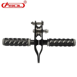 ASOL Outdoor Professional rock Climbing Handle Pulley Roller Gear Mountaineering Rope Rappelling Survival Equipment - thegsnd