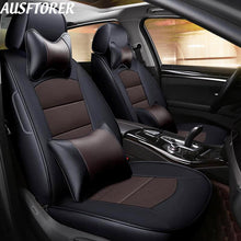 Load image into Gallery viewer, AUSFTORER Custom Genuine Leather Covers Car for Hyundai Elantra 2018 Seat Cover Support Cowhide Front & Rear Cushion Accessories - thegsnd