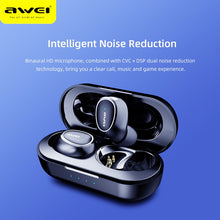 Load image into Gallery viewer, AWEI T6C Mini TWS Charging In Ear Wireless Bluetooth Earbuds Noise Cancelling Gaming Earphone Waterproof Auriculares Sport - thegsnd