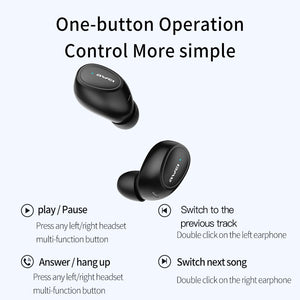 AWEI T6C Mini TWS Charging In Ear Wireless Bluetooth Earbuds Noise Cancelling Gaming Earphone Waterproof Auriculares Sport - thegsnd
