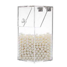 Load image into Gallery viewer, Acrylic Clear Makeup Brushes Organizer Cosmetic Tools Holder Case with 8mm Acrylic Pearl White Loose Pearl Beads Women Make Up - thegsnd