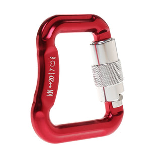 Aluminum Alloy Locking Carabiner for Paraglider Paragliding - Red Camping Hiking Climbing Accessories-gaming zone-thegsnd-China-thegsnd