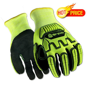 Anti Vibration Oil Safety Work Glove Shock Absorbing Anti-Impact Resistant Mechanics Working Gloves - thegsnd