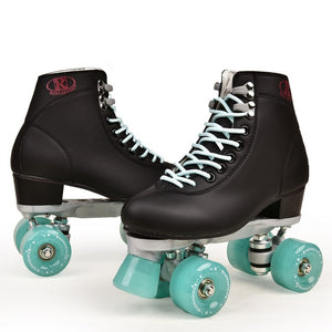 Artificial Leather Roller Skates Double Line Skates Women Men Adult Two Line Skate Shoes Patines With Four colors PU 4 Wheels - thegsnd
