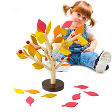 Load image into Gallery viewer, Assembled Tree Wood Green Leaves Building Montessori Wooden Toys Chopping Block Early Educational Toy Children Learning Toy - thegsnd