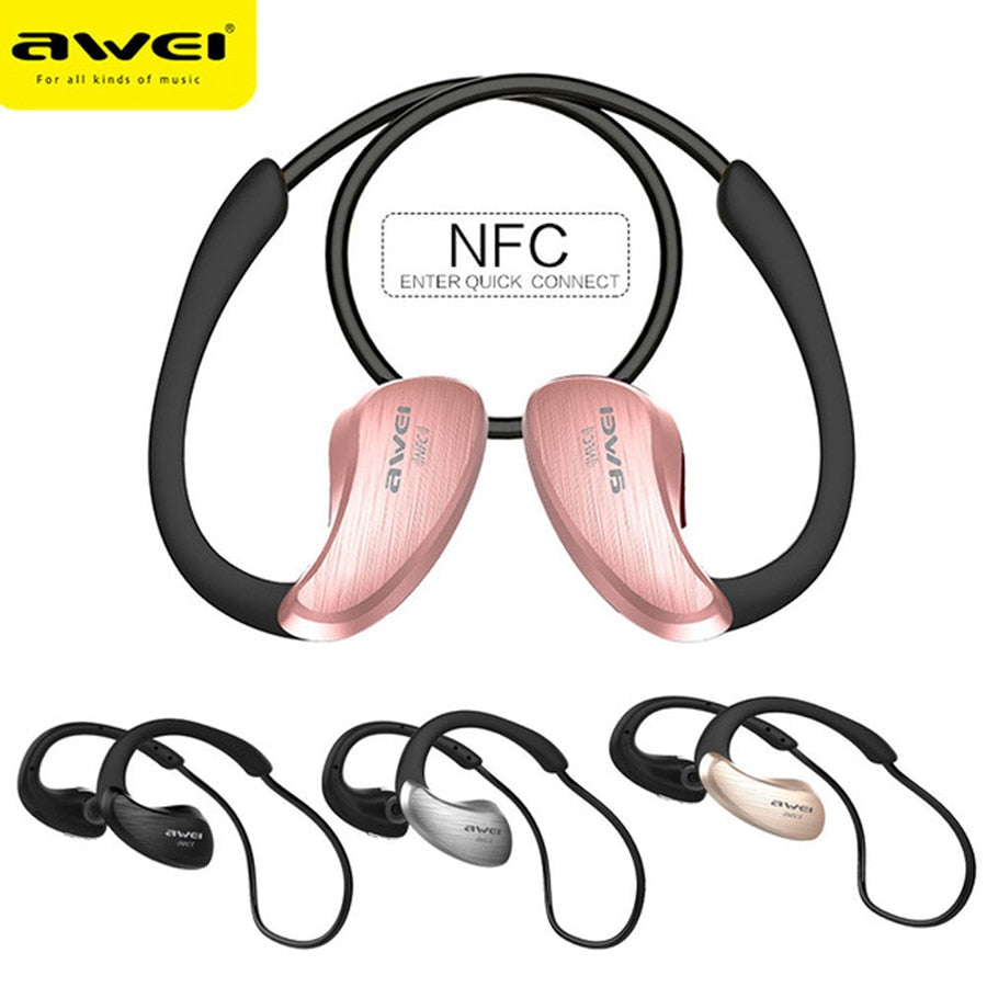 Awei Blutooth Sport Headset Earbud In-Ear Cordless Wireless Headphone Auriculares Bluetooth Earphone For Your In Ear Phone Buds - thegsnd