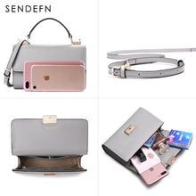 Load image into Gallery viewer, Sendefn Handbag Women Leather Handbags Mini Tote Bag With Zipper Messenger - thegsnd