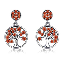 Load image into Gallery viewer, BAMOER Genuine 100% 925 Sterling Silver Tree of Life ,AAA Zircon Drop Earrings for Women Sterling Silver Jewelry Brincos SCE067 - thegsnd