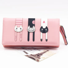 Load image into Gallery viewer, Envelope Women Wallet Cat Cartoon Wallet Long Creative Female Card Holder PU Wallet Coin Purses Girls - thegsnd