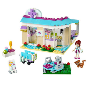 BELA 10537 Vet Clinic Building Blocks Bricks 41085 Friends Figure Toys Girls Birthday Gift Toys - thegsnd