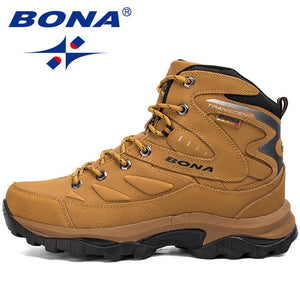 BONA New Hot Style Men Hiking Shoes Winter Outdoor Walking Jogging Shoes Mountain Sport Boots Climbing Sneakers - thegsnd