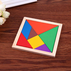 Baby Boy Girl Jigsaw Puzzle Wooden Toy DIY Early Childhood Education Toy - thegsnd