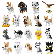 Balody Husky Corgi Schnauzer Dog Persian Cat Eagle Bird Rabbit Duck Animal Pets DIY Mini Building Diamond Nano Blocks Toy no Box - thegsnd