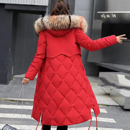 Beieuces Winter Jacket Women Faux Fur Hooded Parka Coats Female Long Sleeve Thick Warm Snow Wear Jacket Coat Mujer Quilted Tops - thegsnd