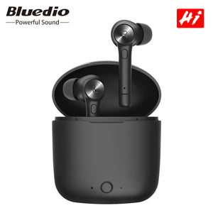 Bluedio HI wireless earphone bluetooth 5.0 earphone for phone stereo sport earbuds headset with charging box built-in microphone - thegsnd
