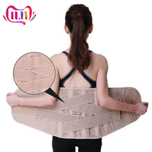 Load image into Gallery viewer, Breathable Lumbar Corset for the Back Waist Belt Women Medical Lower Back Brace Spine Support Orthopedic Back Support Belt Men - thegsnd