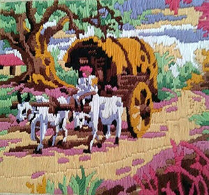 The Bullock Cart Travelling 🐂 (Multi Color_36*36).-wk_wallet-thegsnd