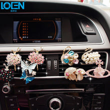 Load image into Gallery viewer, Car Air Freshener Scents Auto Perfume Vent Outlet Clip With Solid Fragrance Sheet Swan Mushroom Butterflies Planet Dance Girl - thegsnd