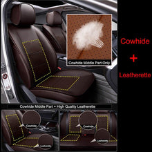 Load image into Gallery viewer, CARTAILOR Genuine Leather Car Seat Cover Set for Hyundai Elantra Seat Covers & Supports Black Auto Cover Seats Cushion Protector - thegsnd