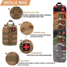 Load image into Gallery viewer, Camping Multifunctional Waist Pack Climbing Emergency Molle Survival Kits Outdoor Travel First Aid Kit Tactical Medical Bag - thegsnd