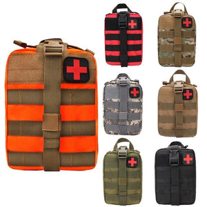 Camping Multifunctional Waist Pack Climbing Emergency Molle Survival Kits Outdoor Travel First Aid Kit Tactical Medical Bag - thegsnd