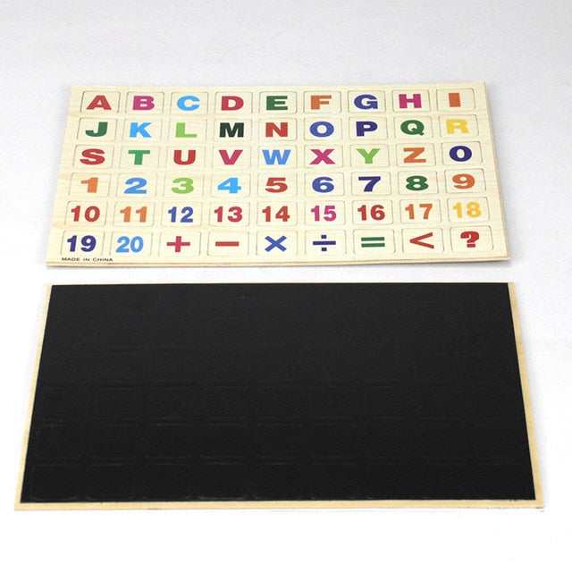 Children Wooden Magnetic Russian/Arabic Alphabet Puzzle Russian Language Learning Educational Toy For Blackboard Paste Baby Toy-Wooden Toy-thegsnd-English-China-thegsnd