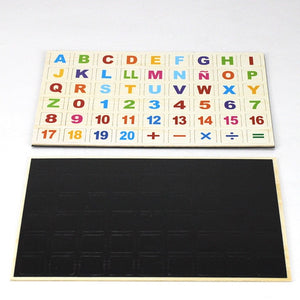 Children Wooden Magnetic Russian/Arabic Alphabet Puzzle Russian Language Learning Educational Toy For Blackboard Paste Baby Toy-Wooden Toy-thegsnd-Spanish-China-thegsnd