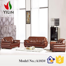 Load image into Gallery viewer, China supply Dubai style antique design model sofa set 7 seater natuzzi leather sofa,living room furniture sofa set - thegsnd