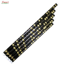Load image into Gallery viewer, Chinese Bamboo flute handmade Professional dizi Pan Flauta Musical Instruments Key of F/ G  Black color transverse  flute - thegsnd