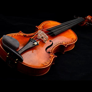 Christina V07-carved Violin 4/4 handmade musical instruments viola fo professional play high quality violino bow and rosin - thegsnd