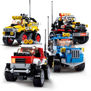 City Super Racers Compatible legoeing SUV Off-Road Truck Vehicle Speed Champions Sports car Racing Car model Building Blocks Toy-Kids Playing Zone-thegsnd