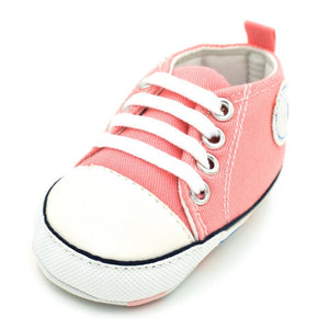 Classic Canvas Newborn Baby Boys Girls First Walkers Toddler Soft Sole Anti-slip Shoes - thegsnd