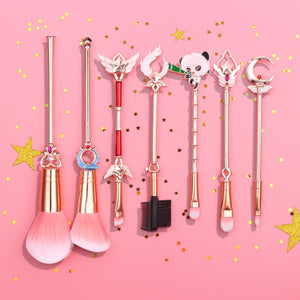 Classic Online Games Character Weapon Makeup Brush LULU NAMI Soraka Janna TIMO Magical Girl Eye Shadow/Blush Brush Women Gift - thegsnd